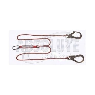Y Shock Absorbing Lanyard With Scaffold Hooks - 1.75m